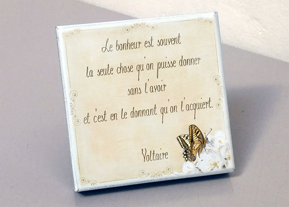 Plaque Funeraire En Pierre Modele Voltaire Voltaire Bonheur Papillon Fleur Personnalisable Avec Votre Texte Et Vos Photos Plaque En Pierre Emaillee Avec Fixation Murale Ou Sur Embases