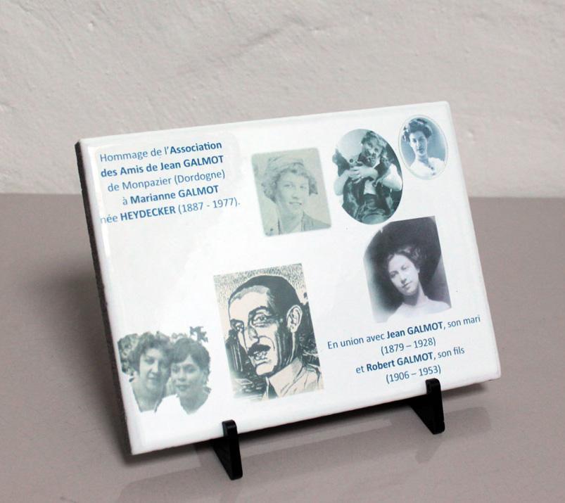 Plaques funeraires en pierre galmot: Réalisation en pierre de lave émaillée